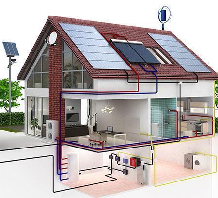dom - przekrój 3D